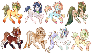 Pony Adopts Batch  2 - 1/8 Open by Tea-Adoptables