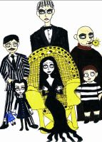 The Addams Family- Burton style by LadyData