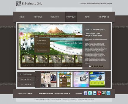 E-Business Grid Portfolio by XtrDesign