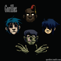 GORILLAZ by sporkbotic