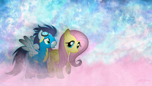 Soarin' and Fluttershy - A Walk In Cloudsdale by Jamey4