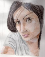 Oceane aquarelle by tite-pao