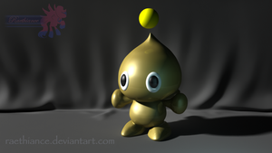 Gold Chao -- 3D Model by Raethiance