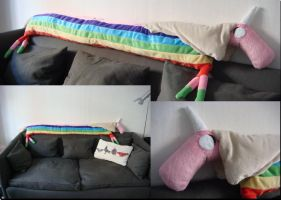 Lady Rainicorn Plushie/Sofa Cushion by Miretz
