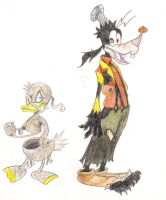 Goofy and Donald by harley-quinn4