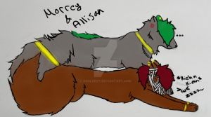 Morrey and Allison c: (moral :D:D) by Aroldest