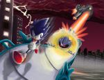 Sonic vs. Metal Sonic by StudioZEL