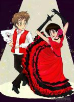APH: Spain + OC Alexis Dancing the Flamenco by lonewolfjc11