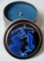 Handmade Nightmare Moon Candle by PonyCandles