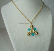 Zora Sapphire Sculpted Pendant Necklace LB Zelda by TorresDesigns