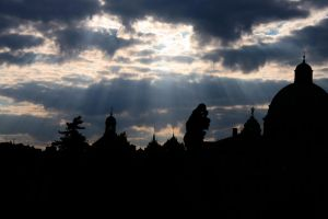 silhouette of Prague by fairytale-gone-bad