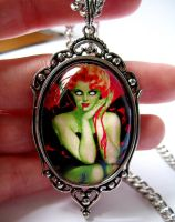 New Zombie Pin Up Necklace by Horribell-Originals