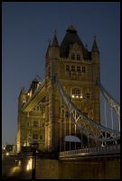 Tower Bridge By Night by dxd