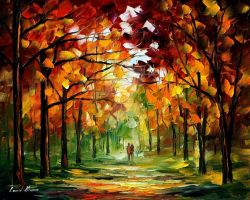Forest of dreams by Leonid Afremov by Leonidafremov
