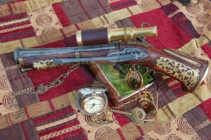 Steampunked Blunderbuss by MatMcCall