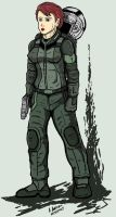 Female Mobile Suit Pilot by archaznable30