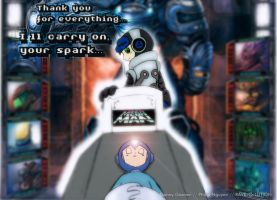 Mighty No. 9 x Mega Man: Rest, my old brother. by RAVE-OH-LUTION