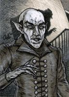 Nosferatu sketch card by silentsketcher