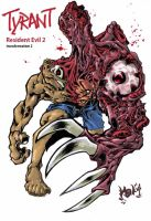 Resident_Evil_TYRANT_2 colored by scabrouspencil