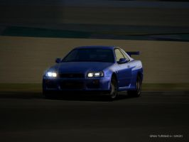 R34 drift by Lew-GTR
