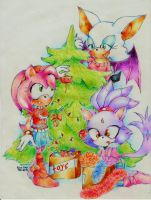 Christmas tree by JustRiyaRay