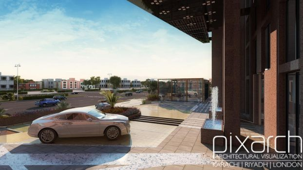 Parking Area Design Picture by pixarch