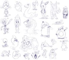 Sketchpalooza 5 Sketches by megadrivesonic