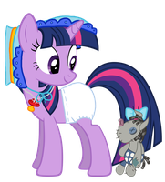 Twilight Sparkle Diaper Costume and Smarty Pants by Mighty355