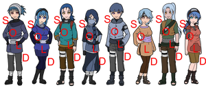 Mixed Bluenette Naruto OC Adoptables - SOLD OUT by mistressmaxwell