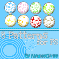 8 Patterns for PS by NyappyGirl99