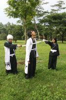 bleach cosplay : hitsugaya n rukia VS Aizen by faisaluzumaki