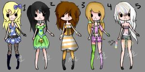 Pastel Adopts (Closed) by Musicallychalanged