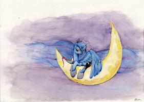 Just Luna (and Tiberious) by ECMonkey