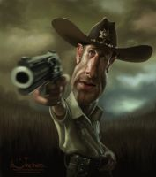 Rick Grimes from 'The Walking Dead'. by creaturedesign