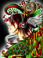 Waves of music coloring by InoriNoUta