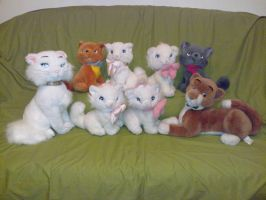 Aristocats plush toys by Frieda15