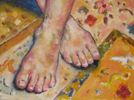 foot painting by shyborg