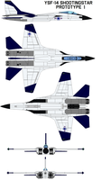YSF-14 Shootingstar  prototype 1 by bagera3005