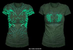 Oblivion Tribal Lions Female T-Shirt Sample Design by Oblivion-design