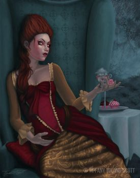 Tumultuous Tea Party: Storm in a Teacup by autumnsmuse