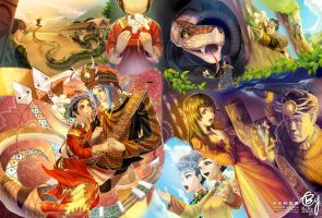 Taiwanese Fable:hundred-pace snake marriage story by bcnyArt