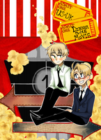 USUK Anthology Fanart-Dinner Plus Movie by Xxnarutogrl6xX