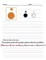 Precursor Worksheet - P by DrinkTeaOrDie