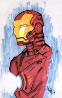 Marker - Iron Man by LeftHandedMutant