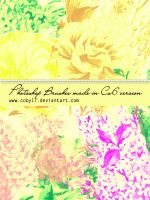 Hand Made Vintage Flowers Brushes by Coby17