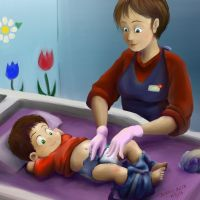 Caiden Daycare Diaper Change By dcrisisbeta by tugscarebear