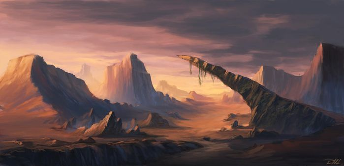 Canyons in the desert by vennom07