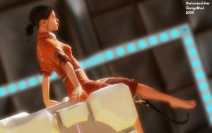 Chell Pinup 1 by thelonesoldier