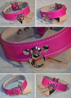 pink collar by leatherforfun