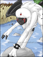 ::Insani the Demon-Absol:: by Kiuna-chan